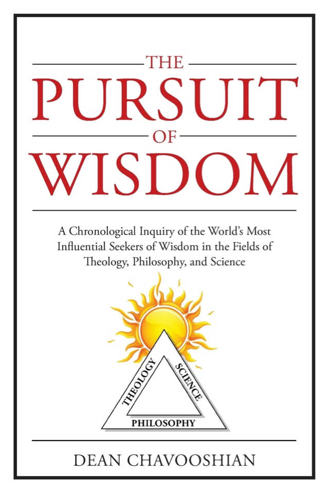Book- The Pursuit of Wisdom. Cover with sun and triangle below it.