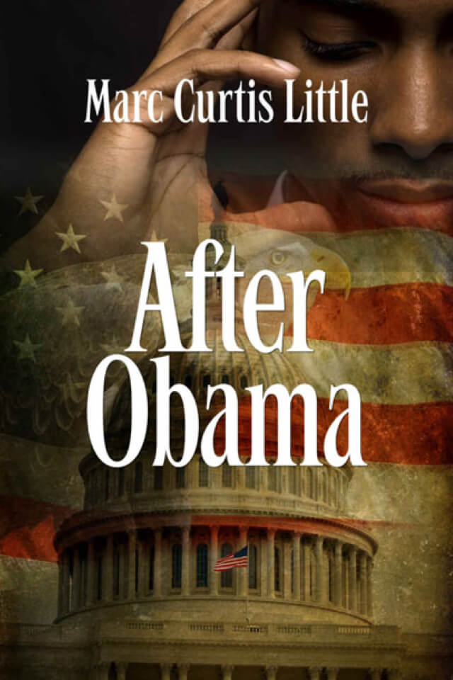 Book- After Obama- Cover with American Flag, eagle and USA Capital building.