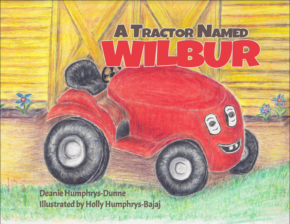 Book- with red tractor on cover